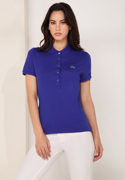 Slim Fit Logo Polo T-Shirt