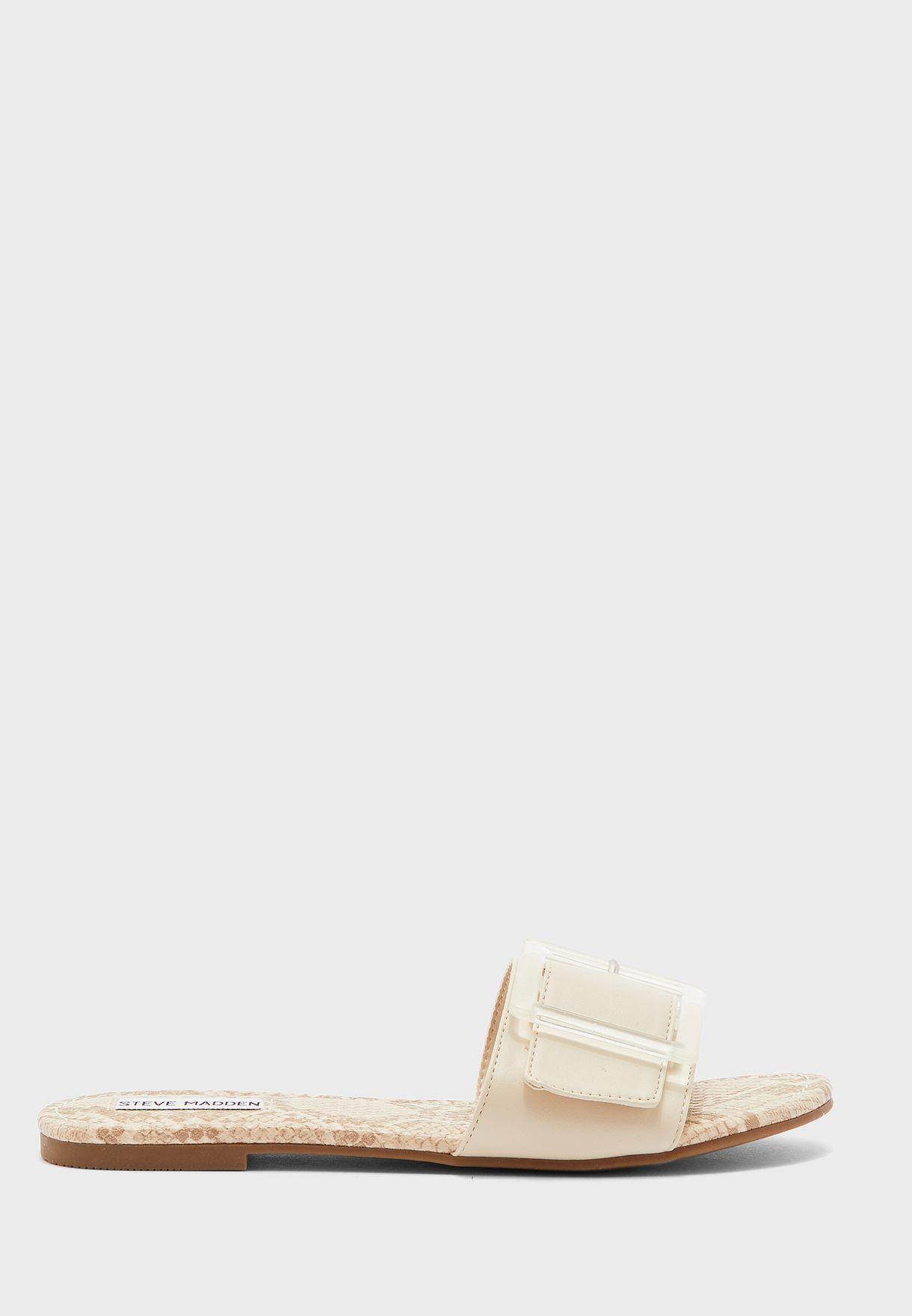 Llola Buckle Strap Flat Sandal