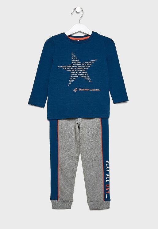 Kids Tie Waist Pyjama Set