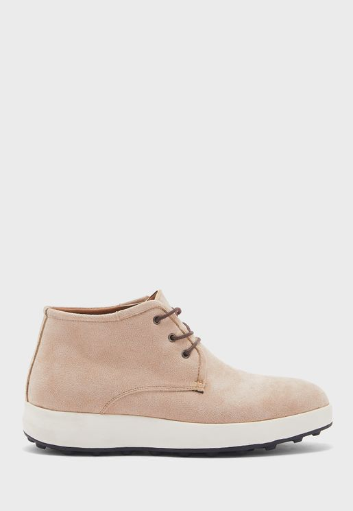 Faux Suede Casual Boots