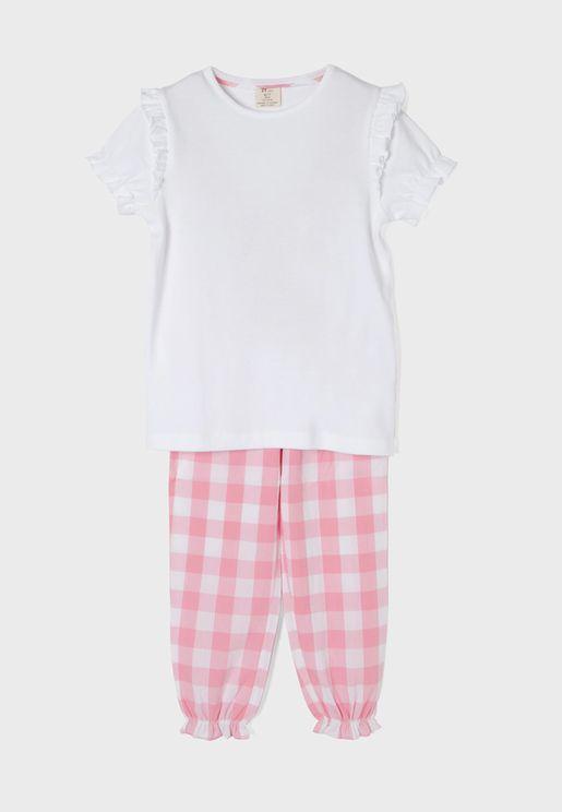 Kids Checked Pyjama Set