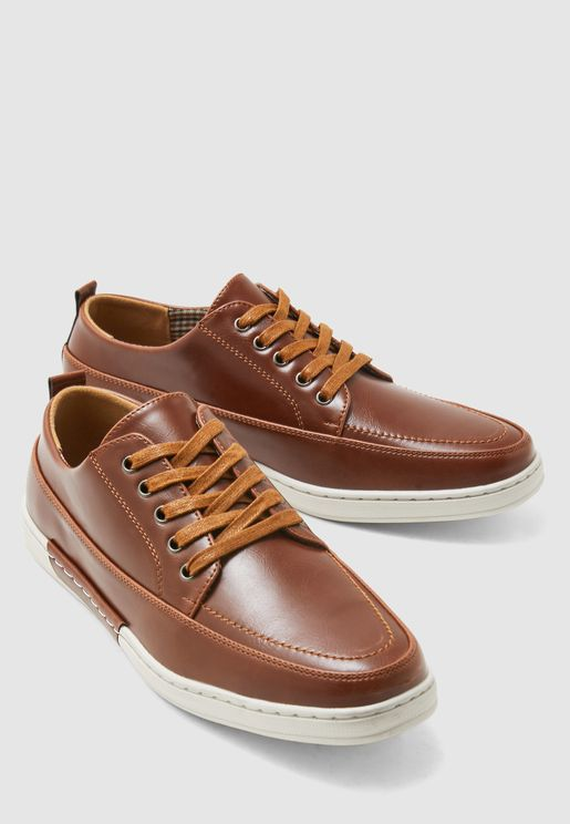 Faux Leather Smart Casual Lace Ups