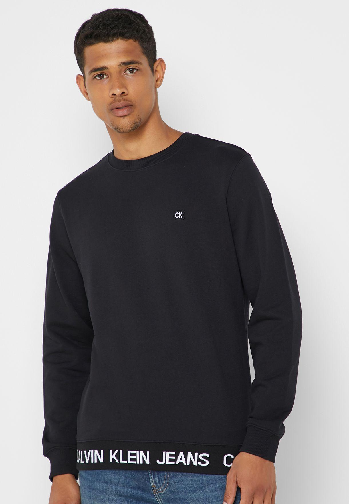 348f30ce4fc Shop Calvin Klein Jeans black Institutional Logo Waistband ...