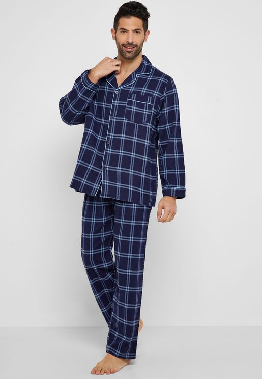 Checked Shirt Pyjama Set. Lounge District dba058fd7