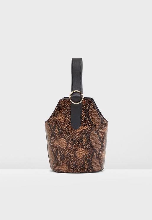 Satchel Bag With Handle Detail