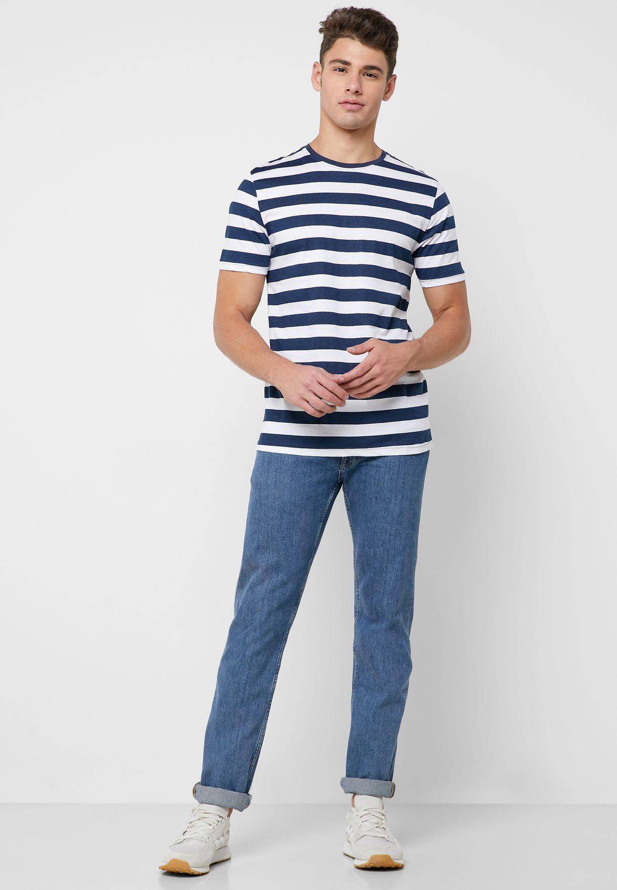 Cole Striped Crew Neck T-Shirt