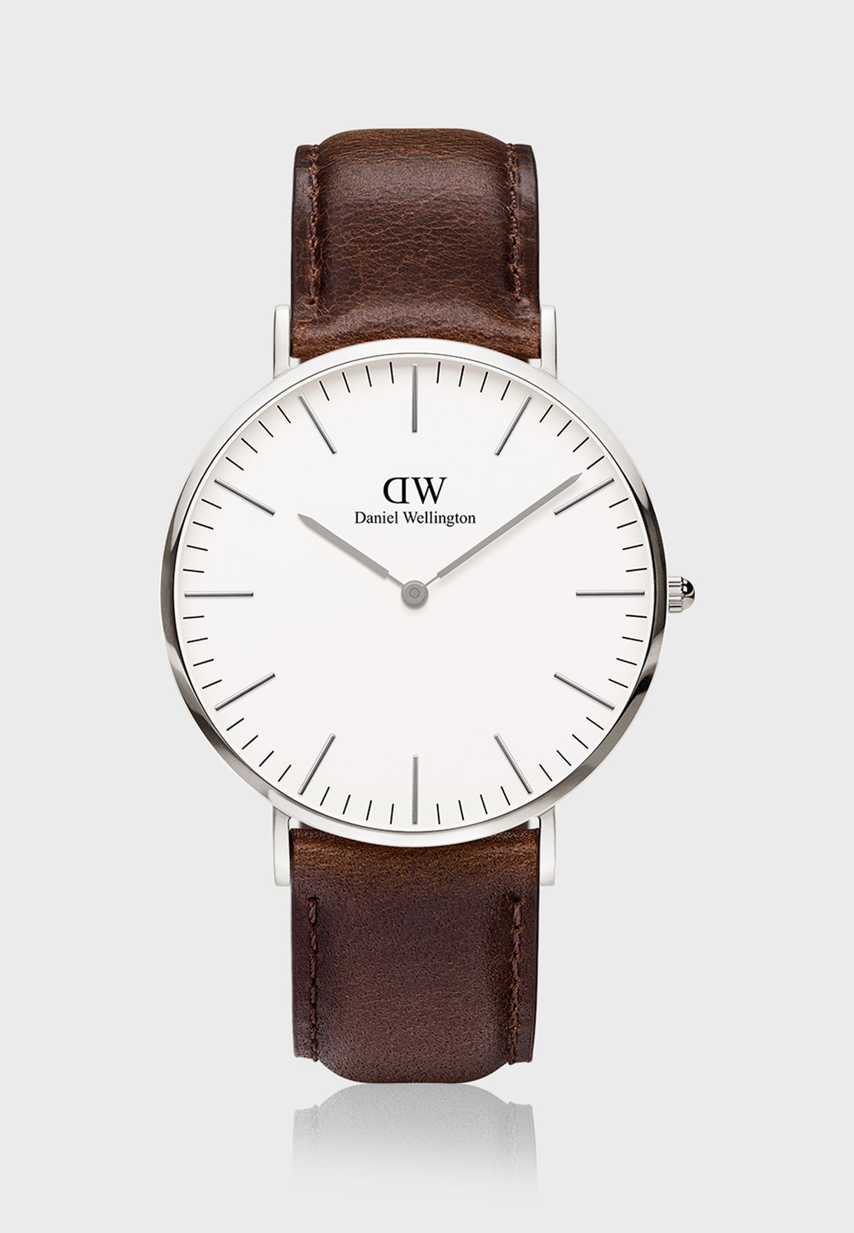 Classic Bristol Silver White 40mm Watch