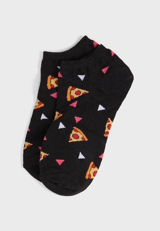 جوارب بطبعات بيتزا