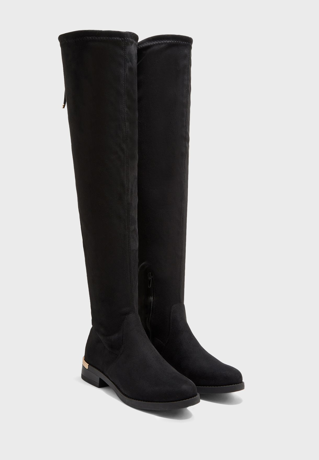Wide Fit Trim Over Knee Boot