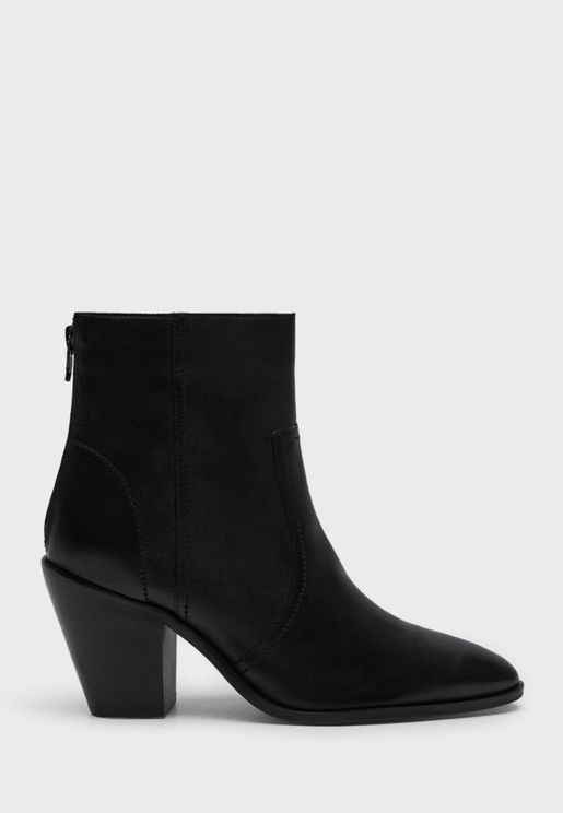 Casual Low Heel Ankle Boots