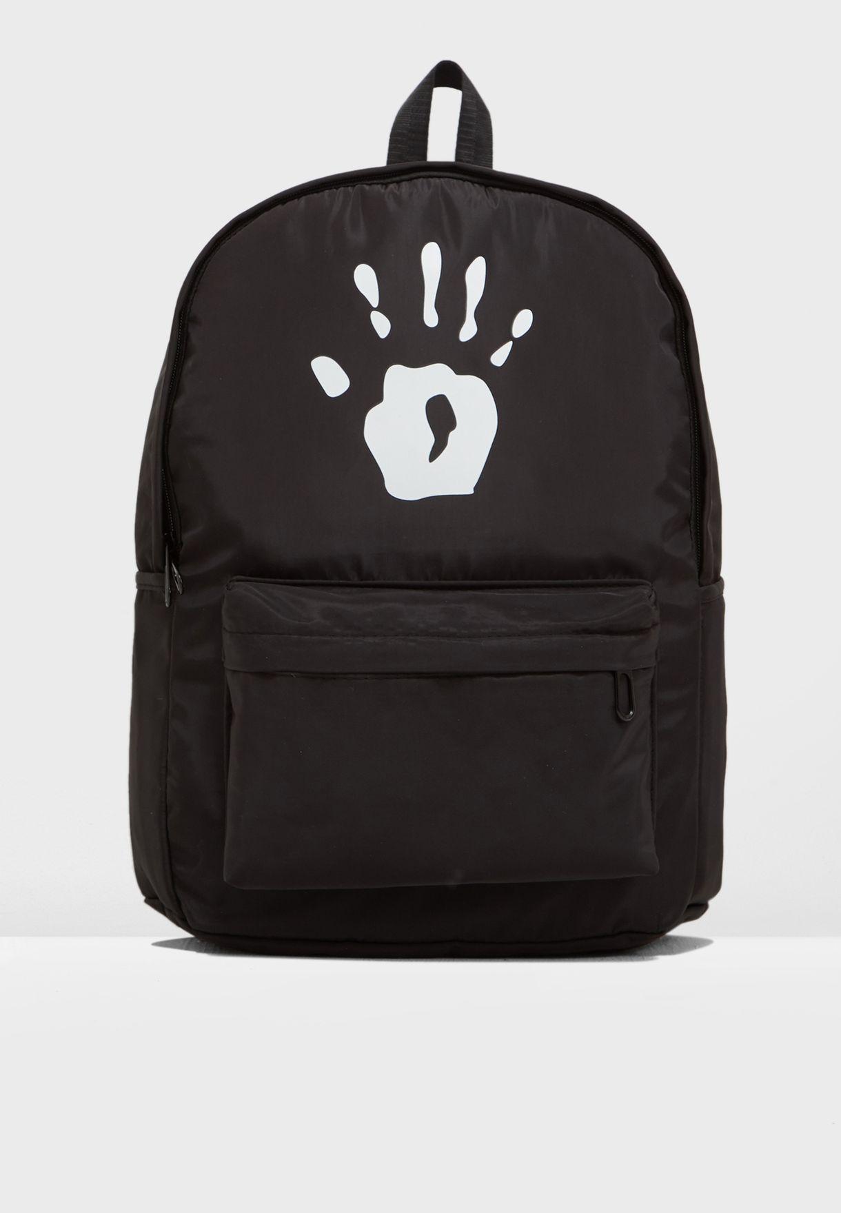 Palm Print Backpack