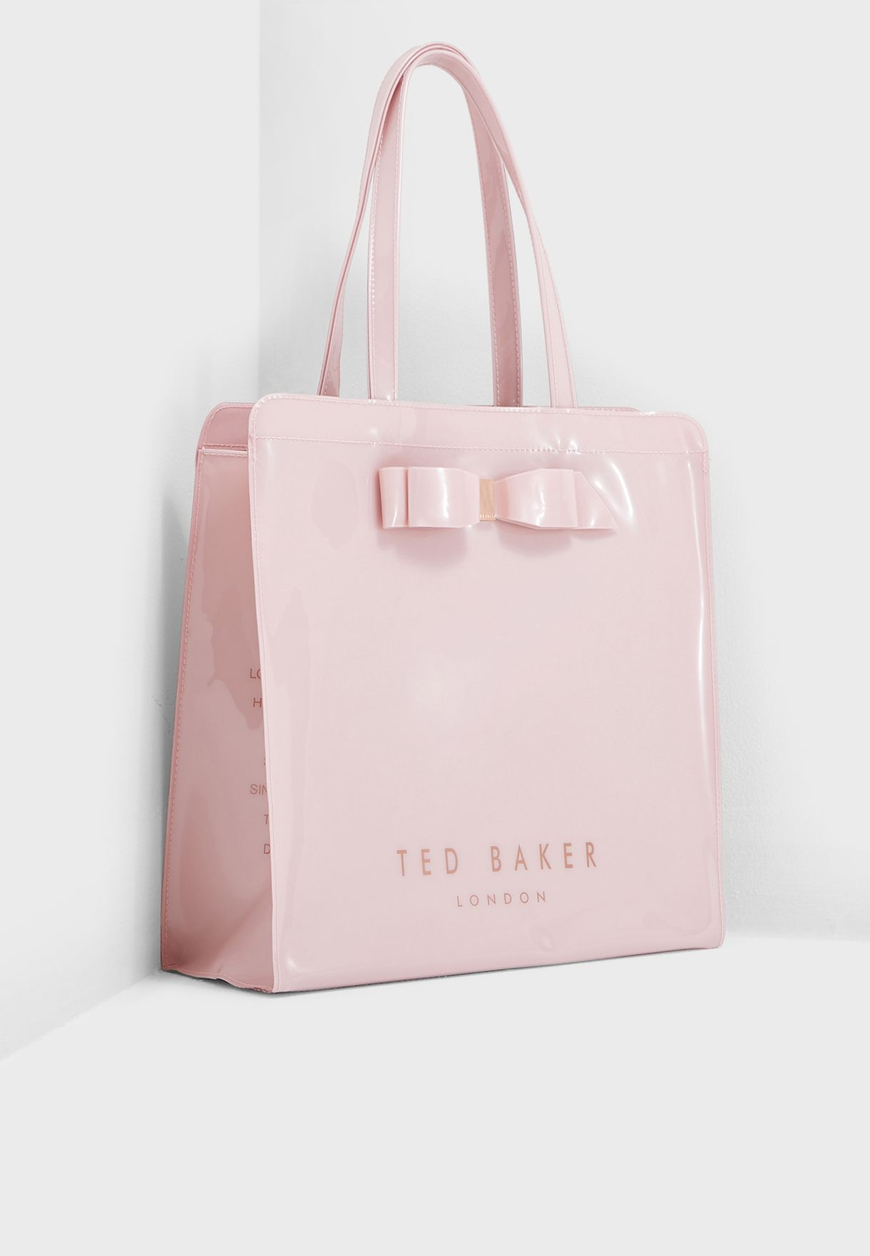 22046e27531 Shop Ted baker pink Almacon Bow Detail Large Icon Shopper 151041 for ...
