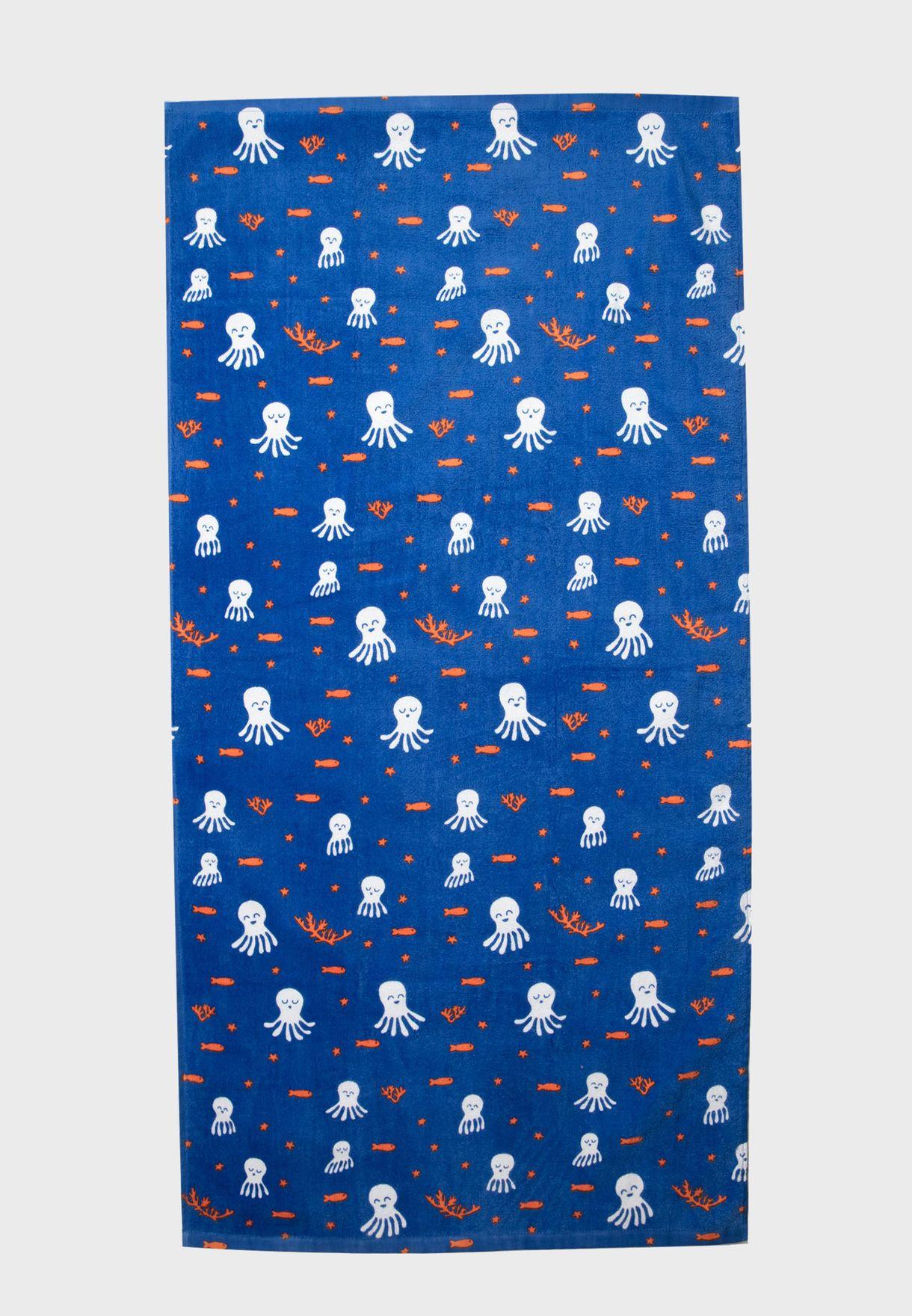 Kids Sea Print Towel