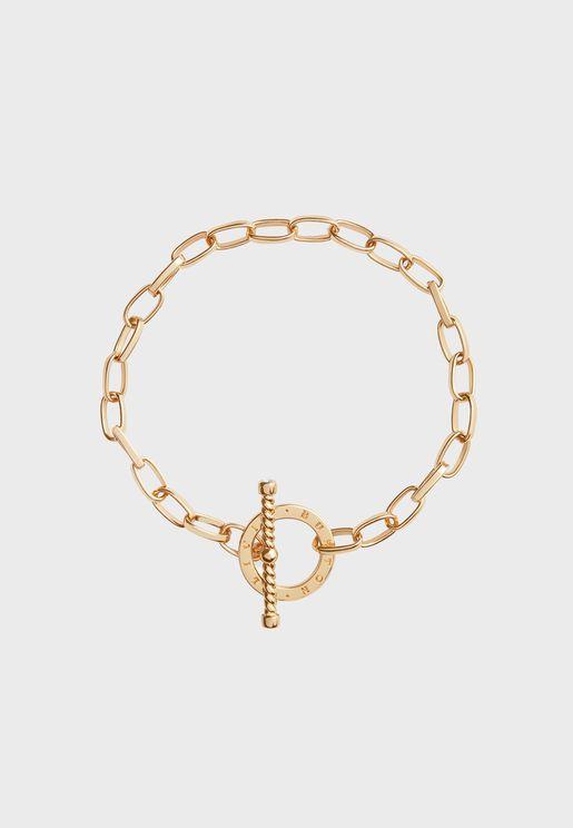 Bejewelled T-Bar Bracelet