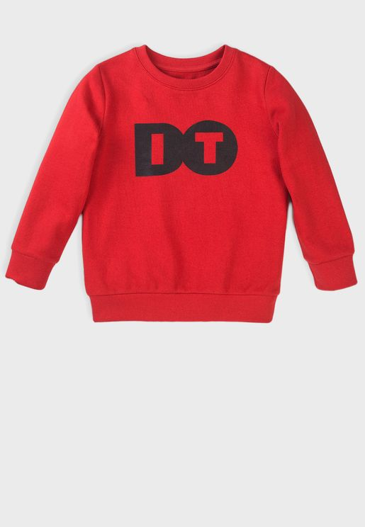 Kids Basic Fleece Crew Sweatshirt