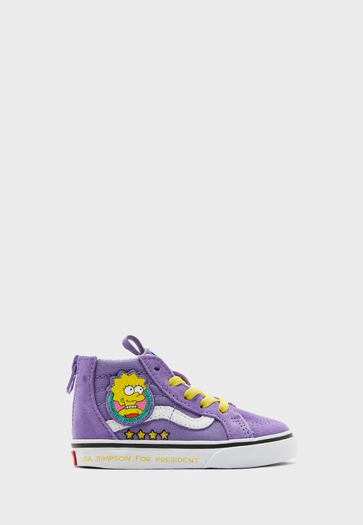 Infant Simpsons Lisa SK8-Hi Zip