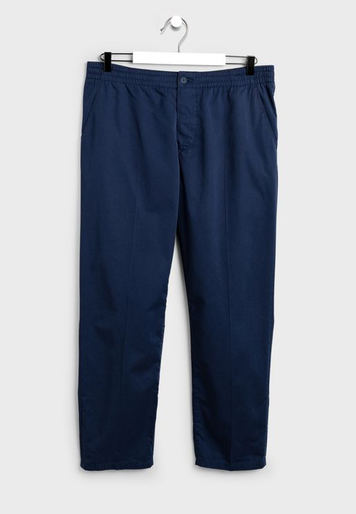 Elasticated Waist Relaxed Trousers