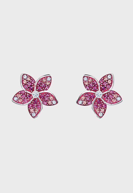 Tropical Flower Stud Earrings