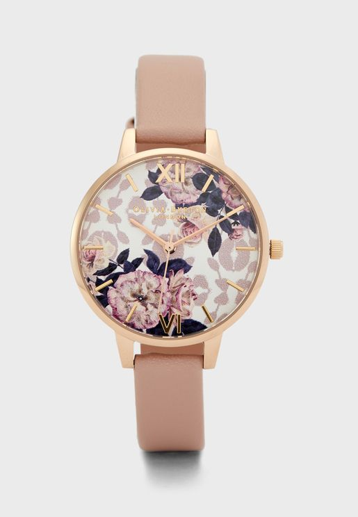Wild Flower Analog Watch