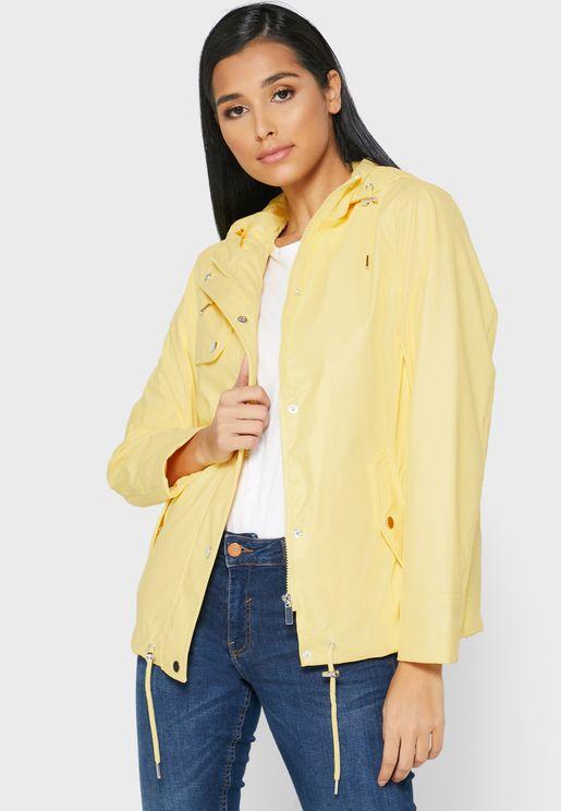 Pocket Detail Hooded Jacket