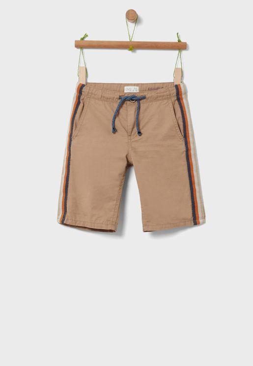 Kids Side Striped Shorts