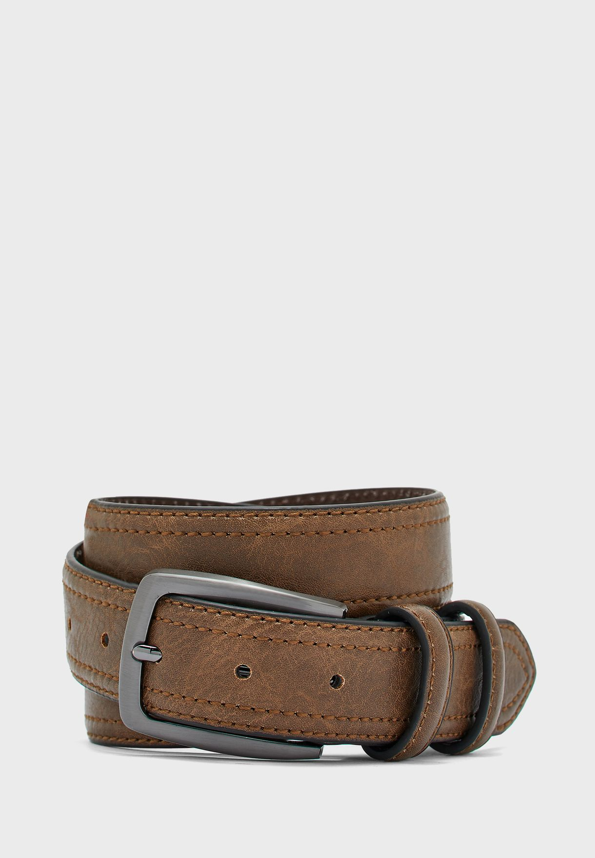 Faux Leather Casual Belt
