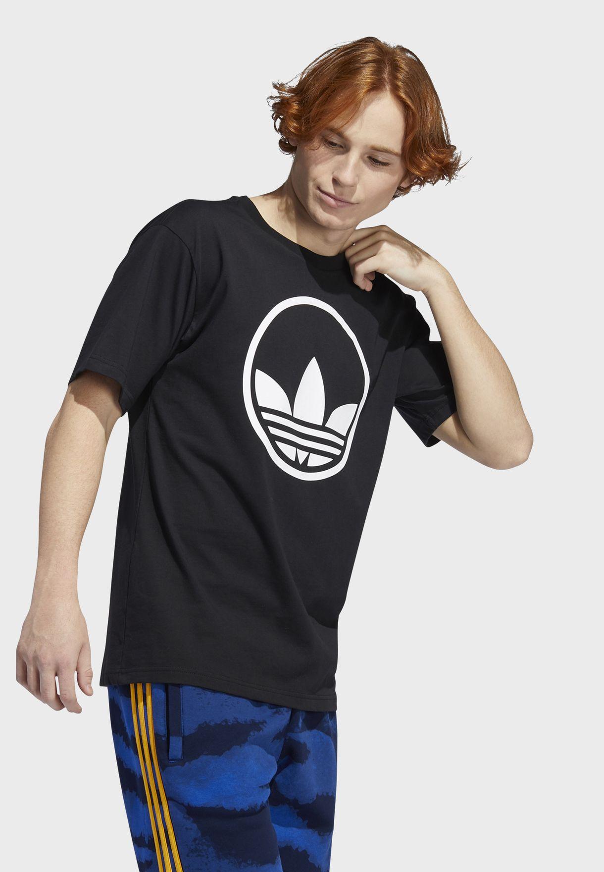 Circle Trefoil Graphics Casual Men's T-Shirt