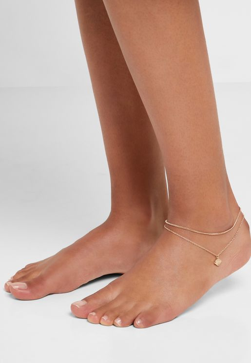 Channelbass Layered Anklet