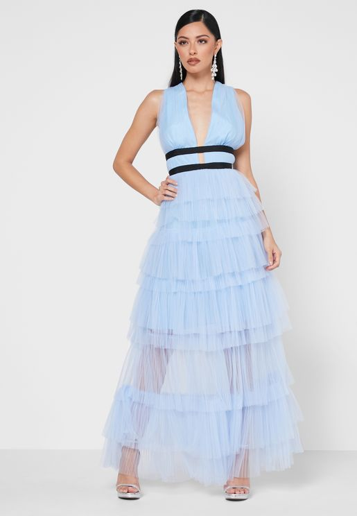 Tulle Layered Dress
