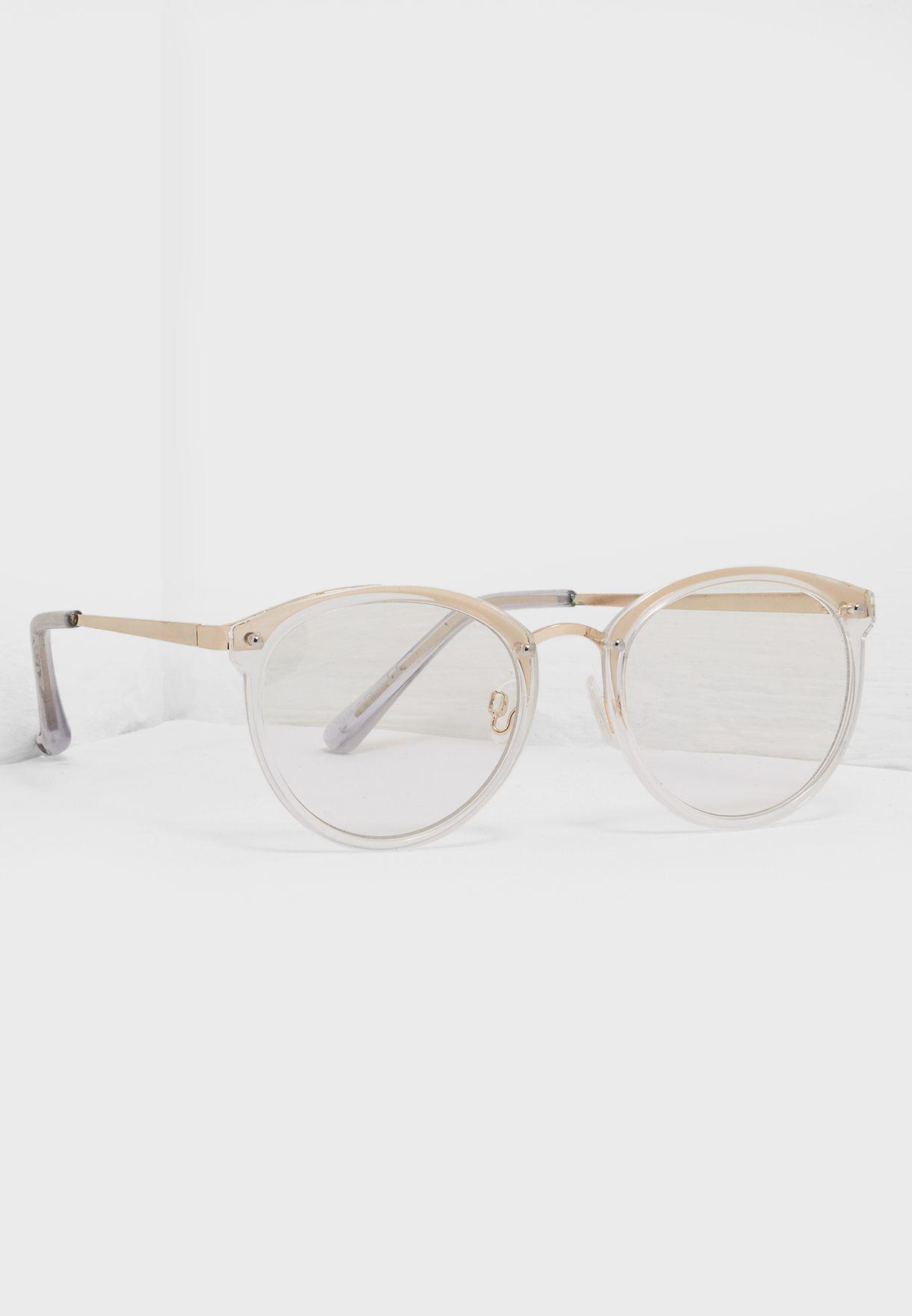 ead0057875 Shop Call It Spring white Gwerrasa Round Frame Sunglass GWERRASA103 ...