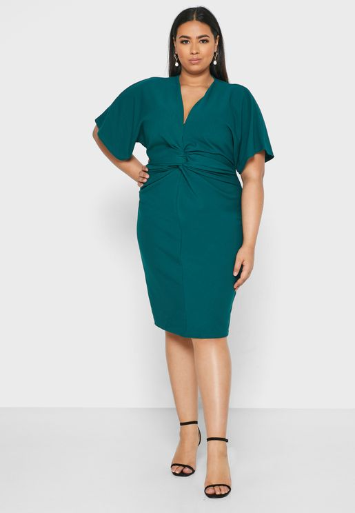 Knot Front Detail Dress