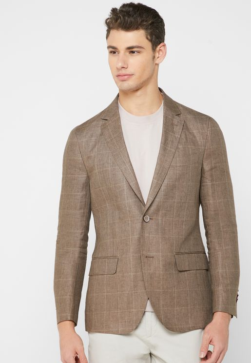 Checked Slim Fit Blazer