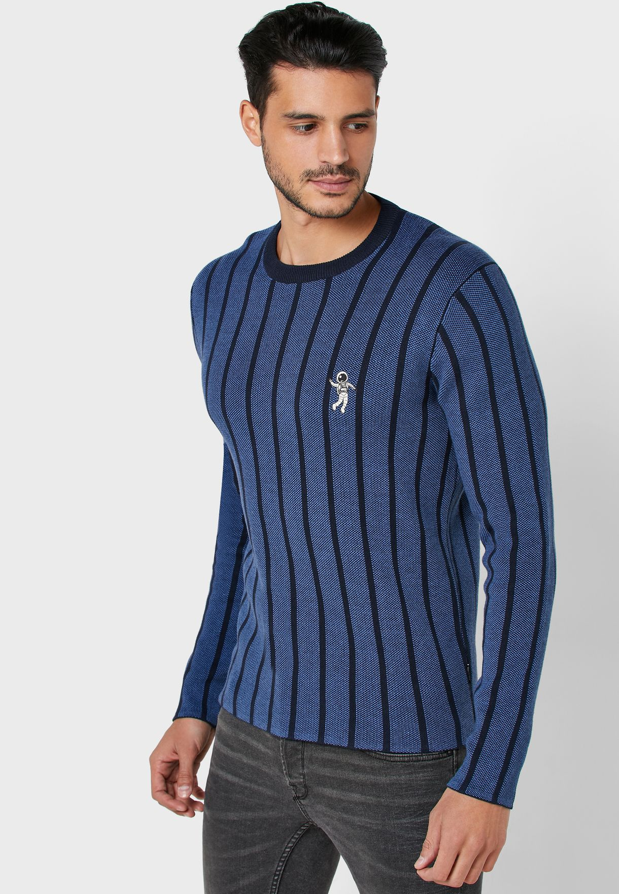 Stripes Crew Neck Jumper