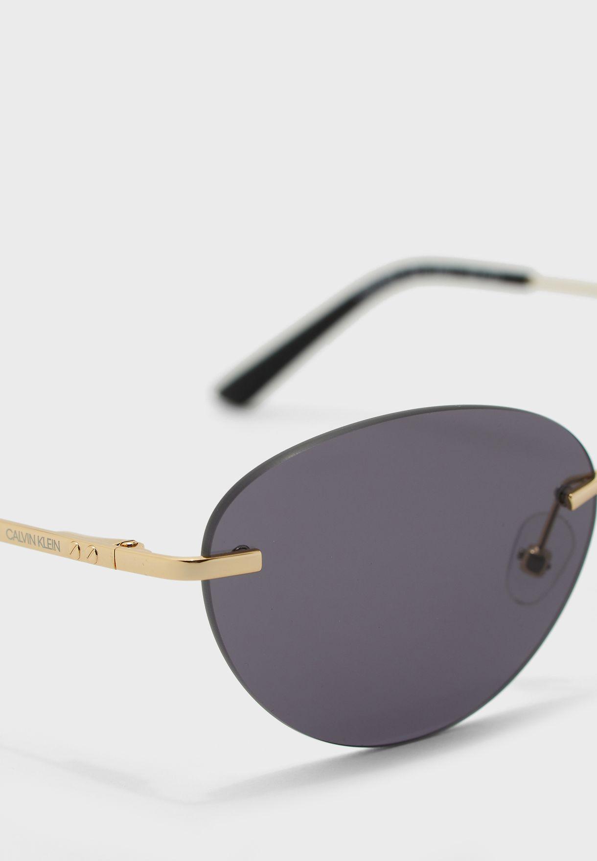 CK20102S Oval Sunglasses