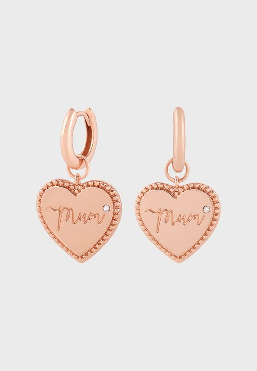 OBJLHE37 Mum Huggie Hoops Earrings