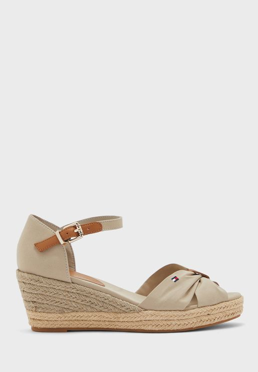 Basic Open Toe Wedge Sandals