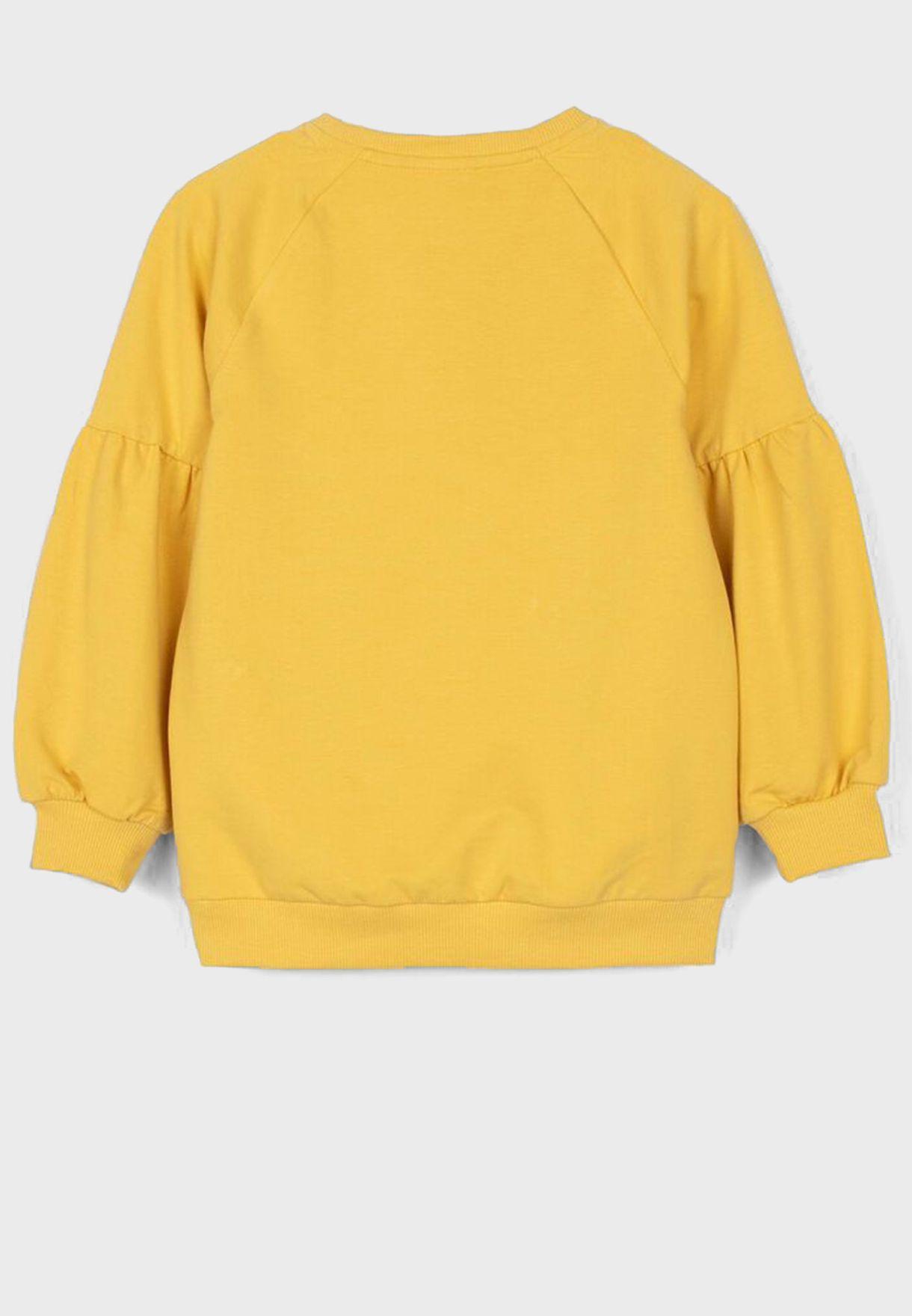 Kids Graphic Puss Sleeve Sweatshirt