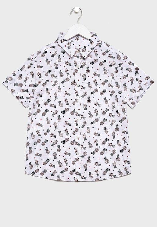 قميص بطباعة اناناس للاطفال