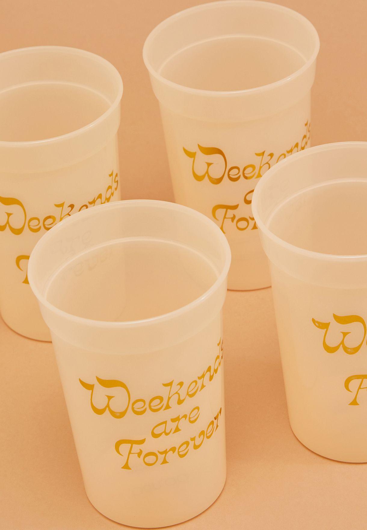مجموعة من 4 فنجان