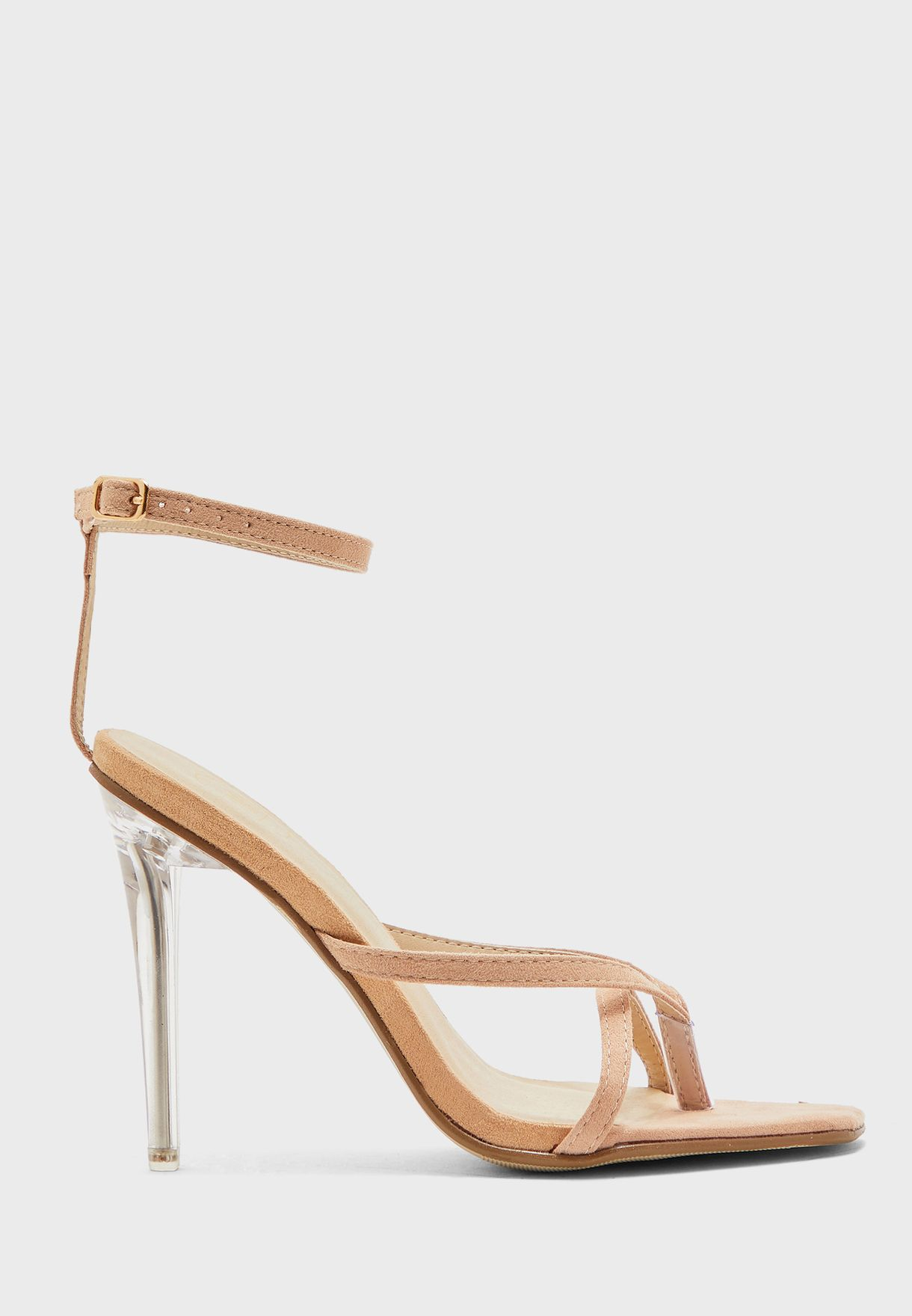 Toe Post Ankle Strap Flat Sandal