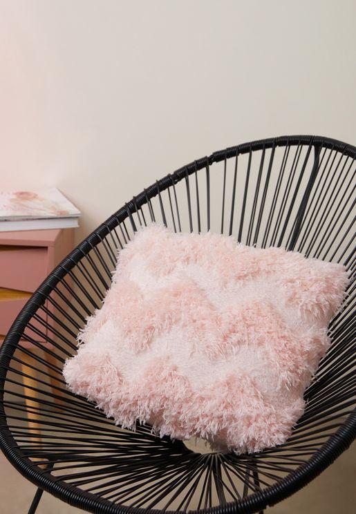 Zig Zag Tassel Pink Cushion