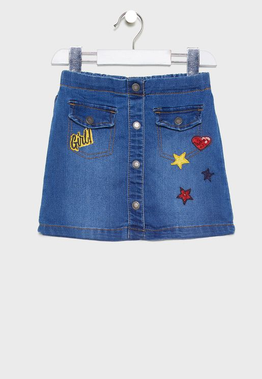 Little Pocket Detail Skirt
