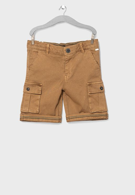 Youth Folded Hem Cargo Shorts