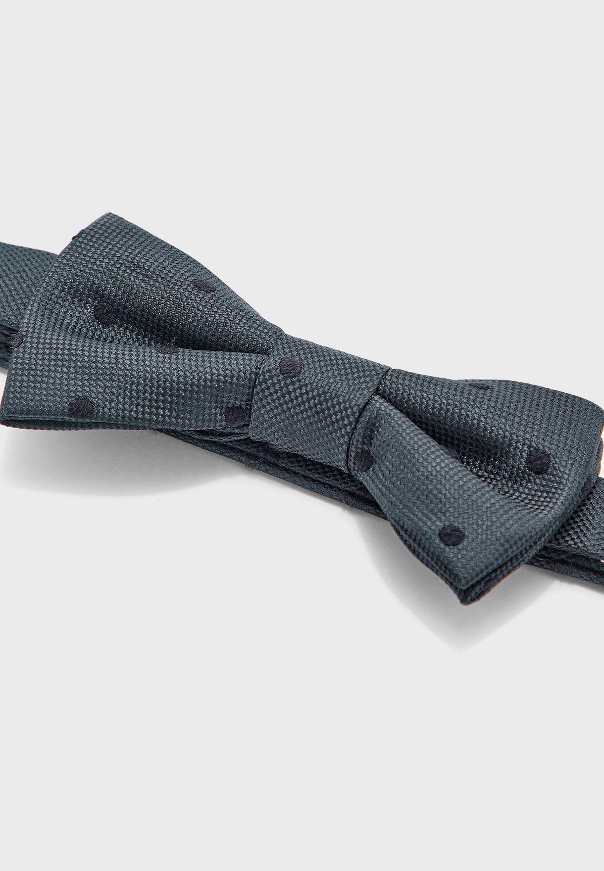 Kids Polka Dot Print Bow Tie