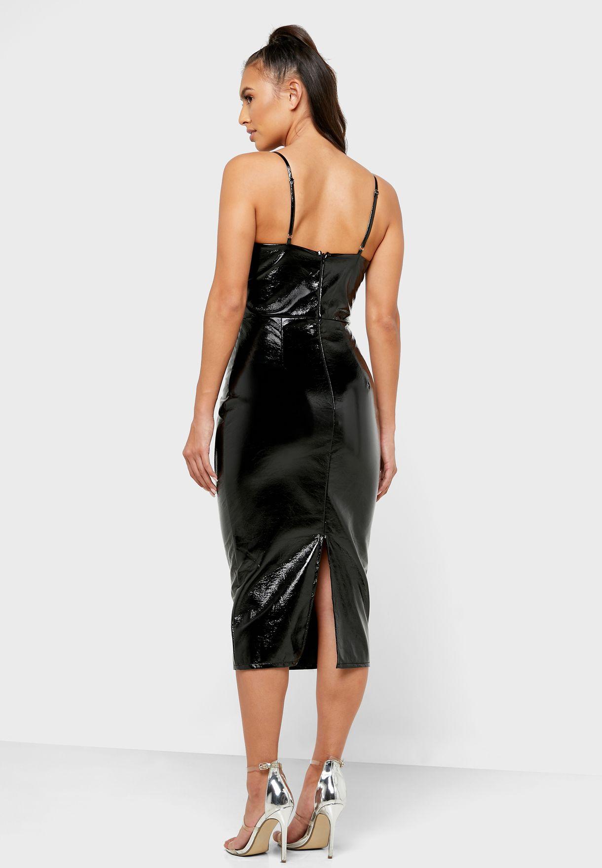 فستان جلد PU