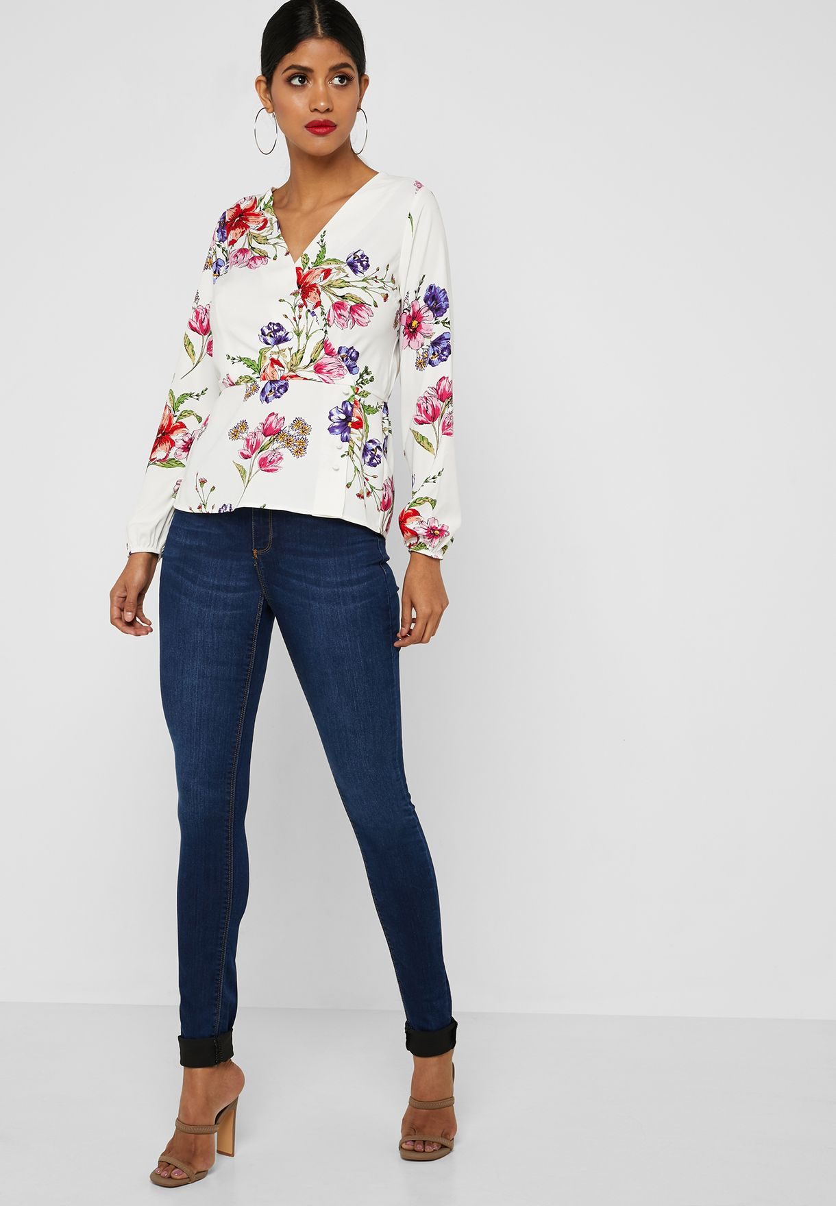 5efdf657790be Shop Dorothy Perkins Tall navy Frankie High Rise Super Skinny Jeans ...