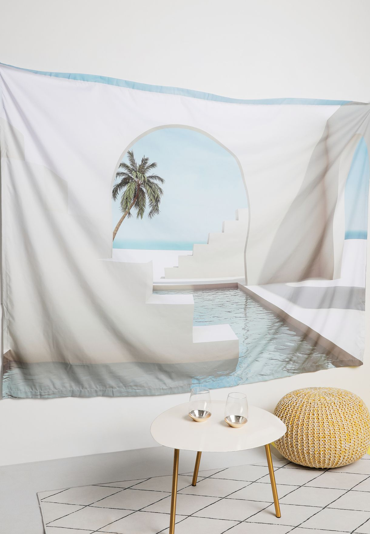 Pool & Arches Wall Back Drop Wall Art