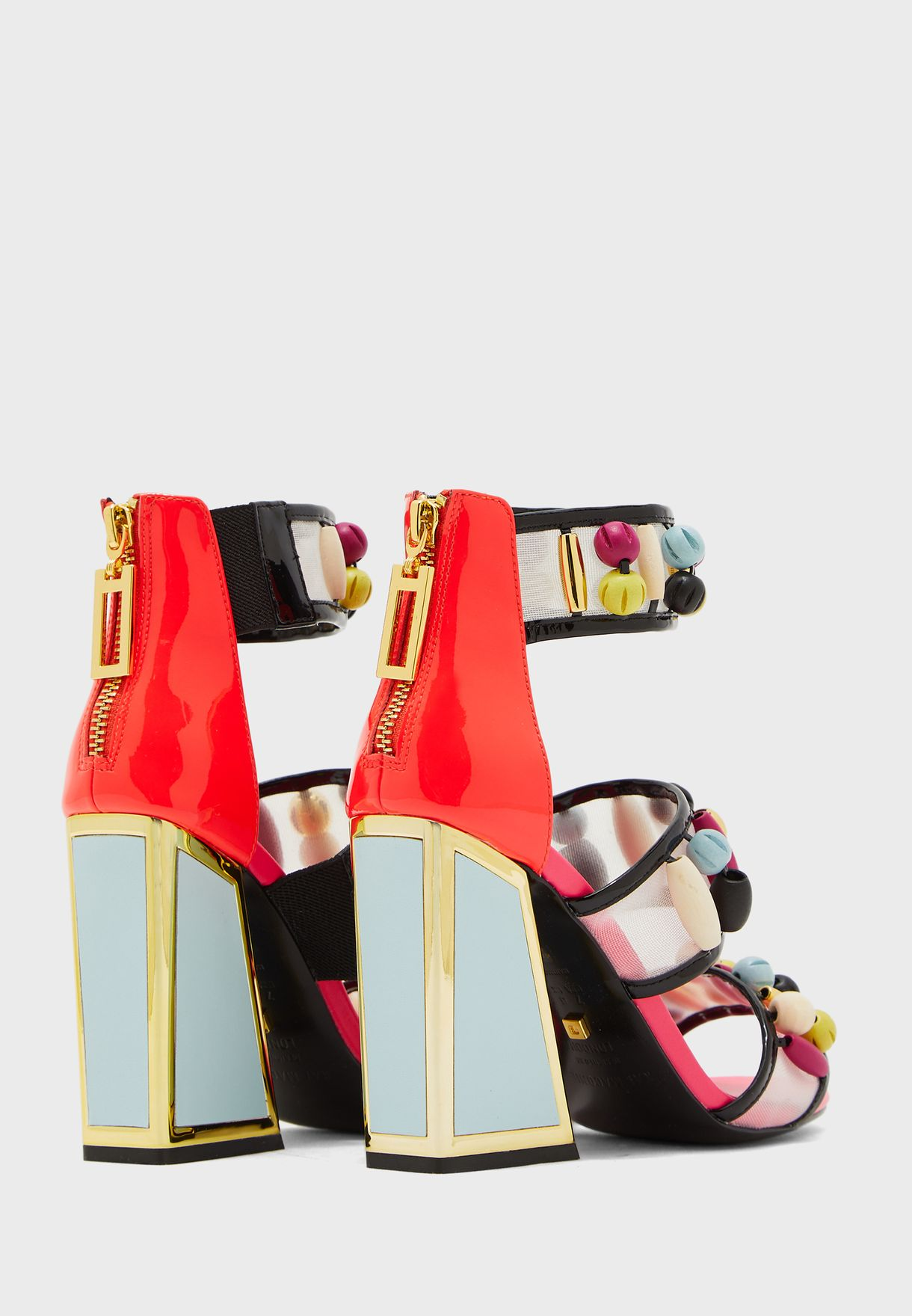 Cardi Ankle Strap Block Heel Sandal