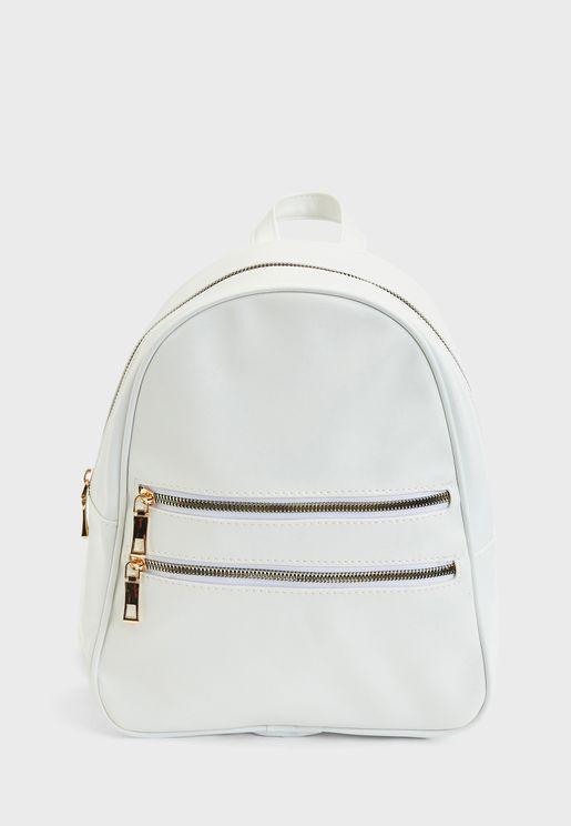 Front Pocket Zippered Backpack