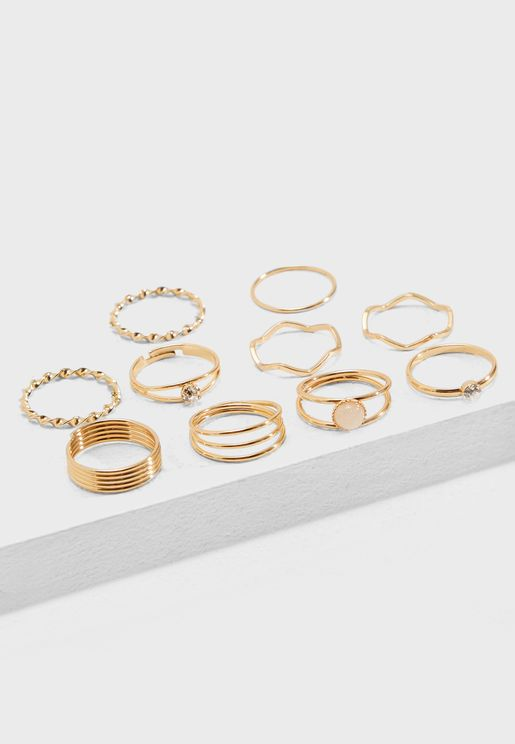 Multipack Assorted Stackable Rings